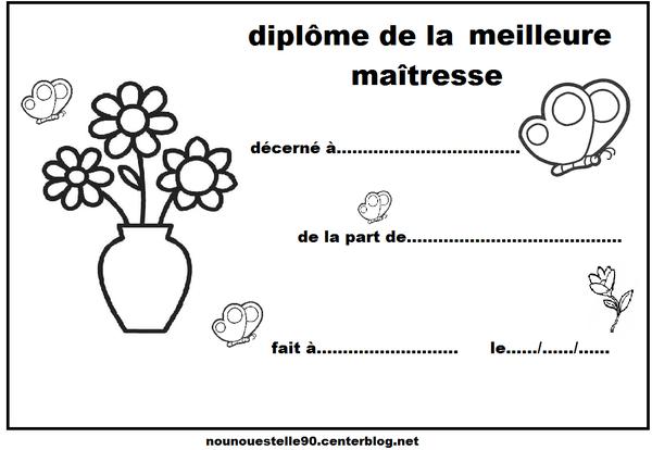 Diplomes maitresse - Coloriage pour la maitresse ...
