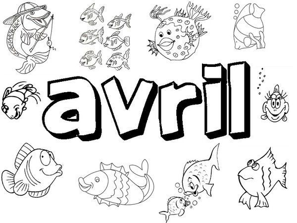 Coloriage poisson avril - Dessin de poisson d avril ...