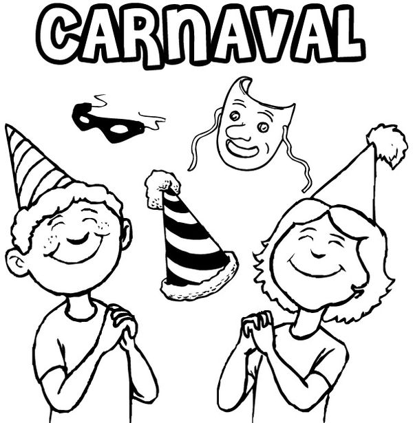 Coloriages carnaval - Dessin carnaval ...