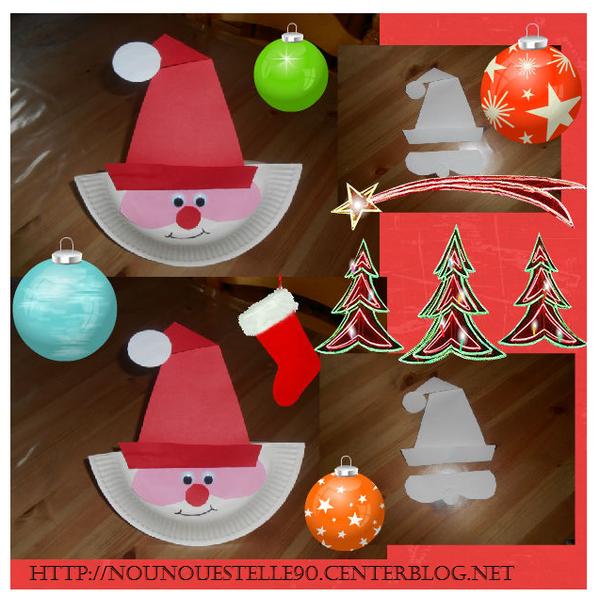 Le Père Noel Assiette Carton