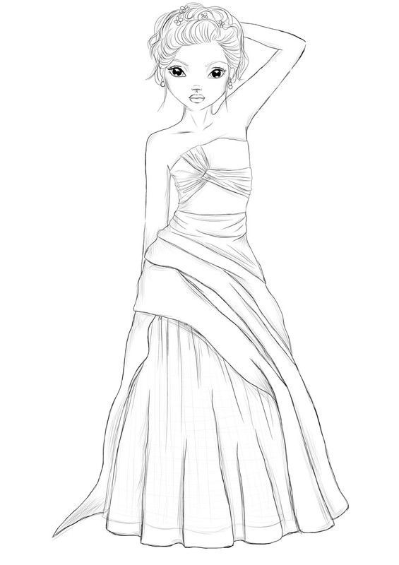 Coloriage top model page 2 - Coloriage top model a imprimer ...