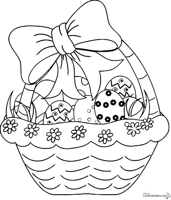 Coloriage paques page 4 - Panier oeufs de paques ...