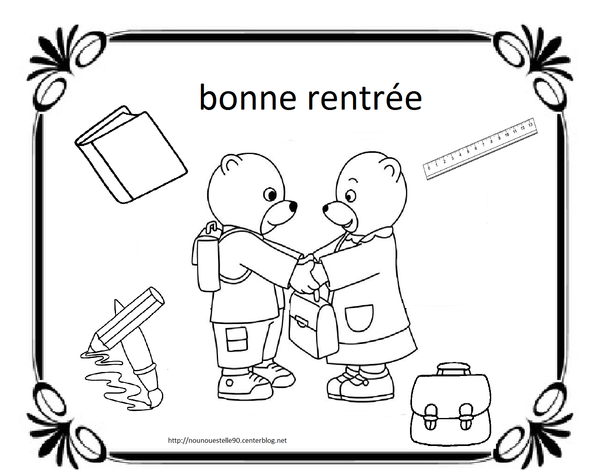 Gut bekannt coloriages pour la rentree des classes OO24