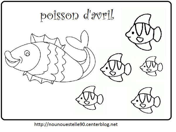 Coloriage poisson avril page 2 - Coloriage avril ...