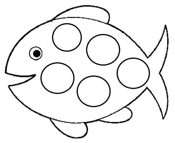 Coloriage poisson avril - Dessin poisson simple ...
