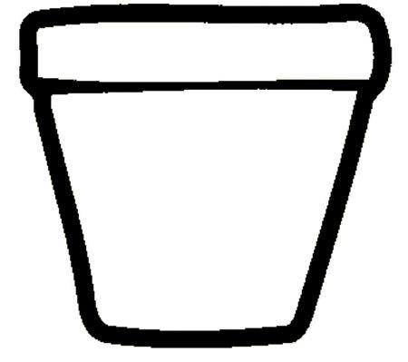 Coloriage Fleur Pot.Coloriage Pot De Fleur Vide Amour Et Jardin