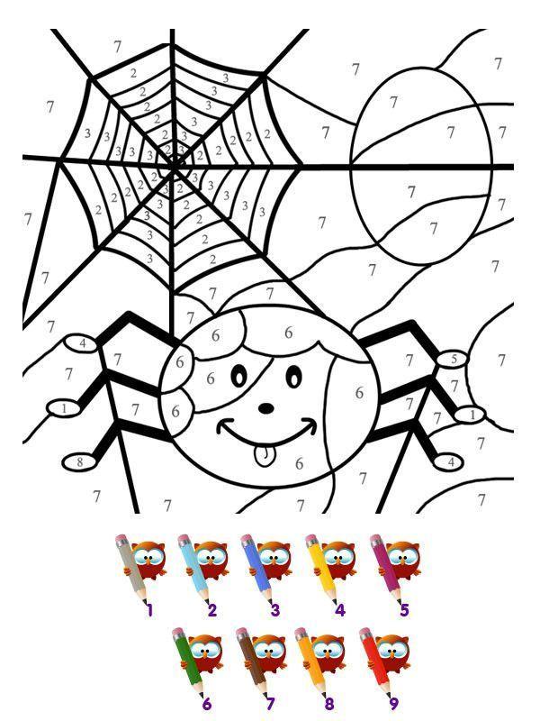 Coloriage - Coloriage magique halloween imprimer ...