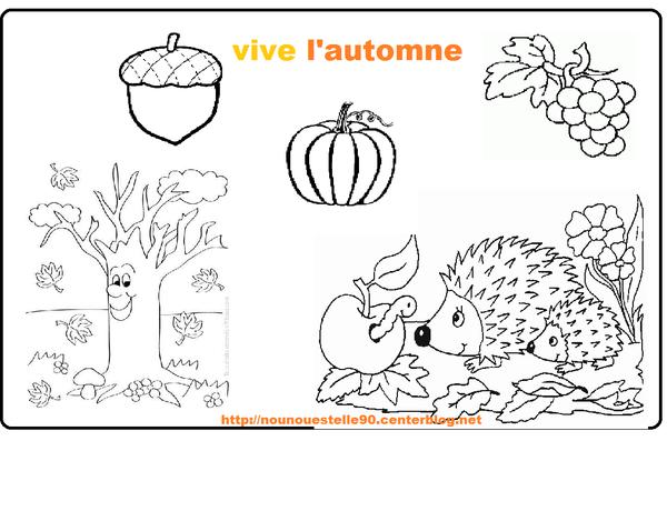 Coloriage automne - L automne dessin ...