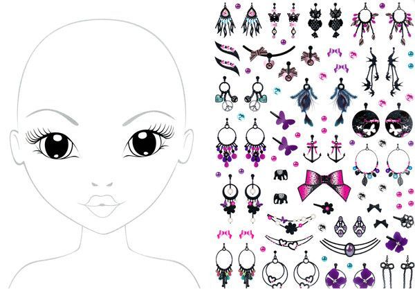 Maquillage dessin a colorier - Coloriage top model a imprimer ...