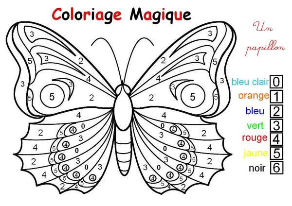 Coloriage page 4 - Coloriage intelligent ...