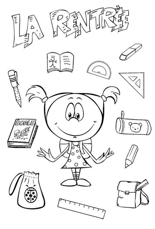 Coloriages pour la rentree des classes page 2 - Dessin rentree ...