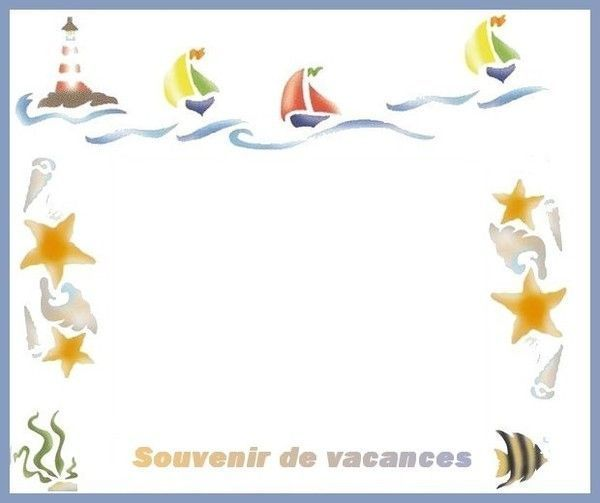 Cadre souvenirs de vacances - Souvenir de vacances ...