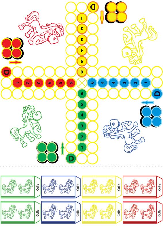 Jeux des petits chevaux - Chevaux a colorier et a imprimer ...