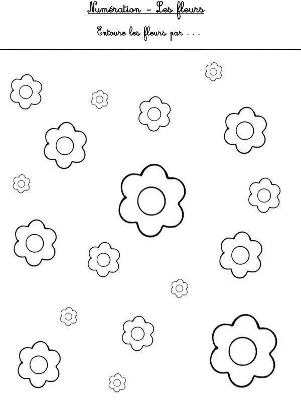 Fiches maternelle page 4 - Coloriage fleur gs ...