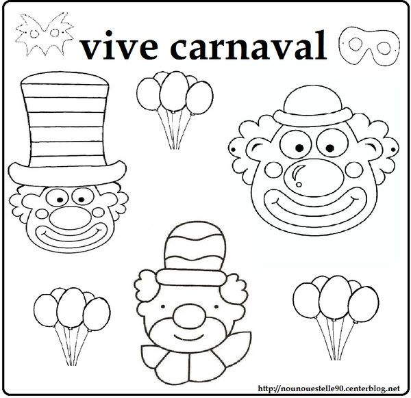 Coloriage Carnaval Ps.Coloriages Carnaval