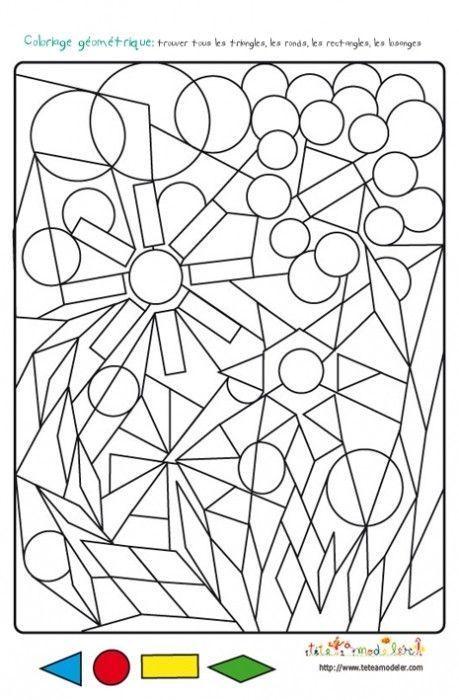 Coloriage - Dessin geometrique a colorier ...