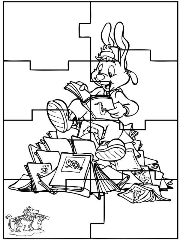Puzzles de paques a colorier for Puzzle a colorier