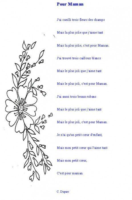 Poeme fete des meres page 3 - Dessin pour maman anniversaire ...