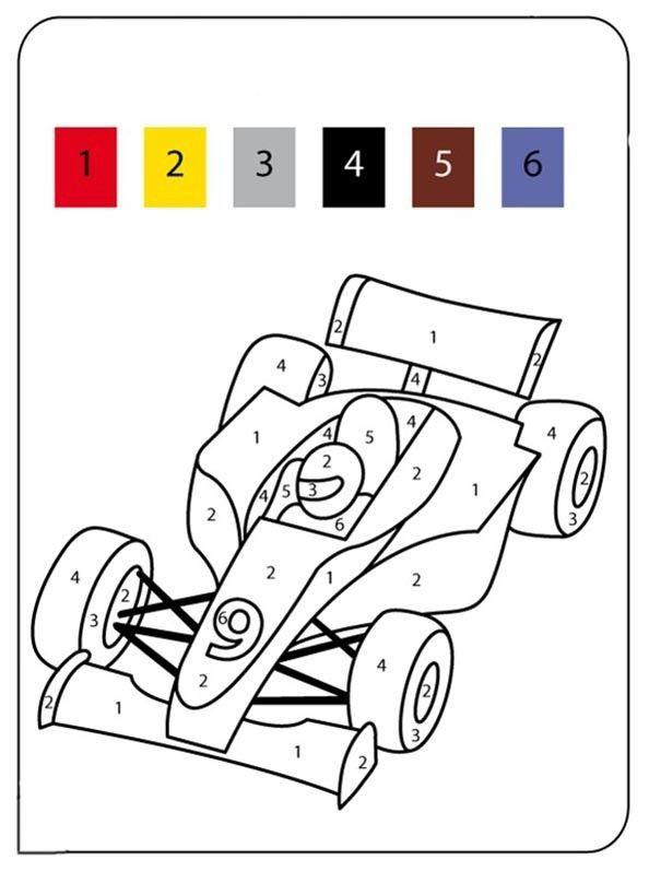 Coloriage magique - Dessin a colorier de voiture ...