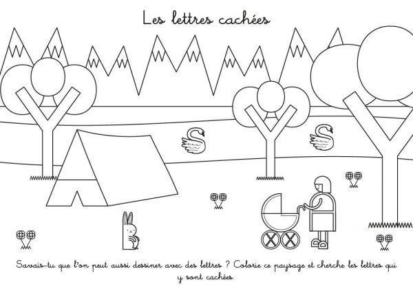 Fiches maternelle page 2 - Coloriage de lettre ...