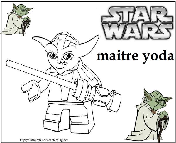Coloriages star wars - Coloriage yoda ...