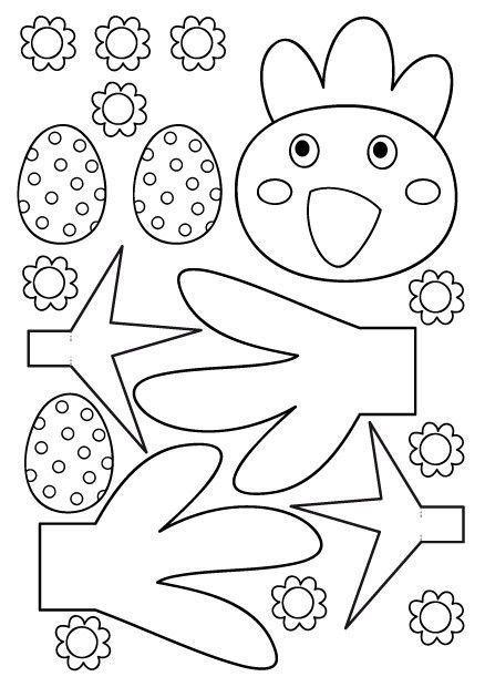 Bricolages de paques - Poule de paques a imprimer ...