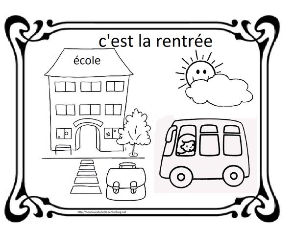 Coloriages Pour La Rentree Des Classes