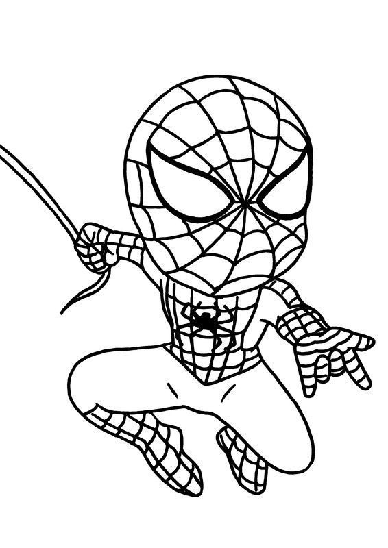 Coloriages super heros - Dessin super hero ...