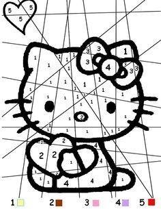 Coloriage magique hello kitty - Coloriage hello kitty coeur ...