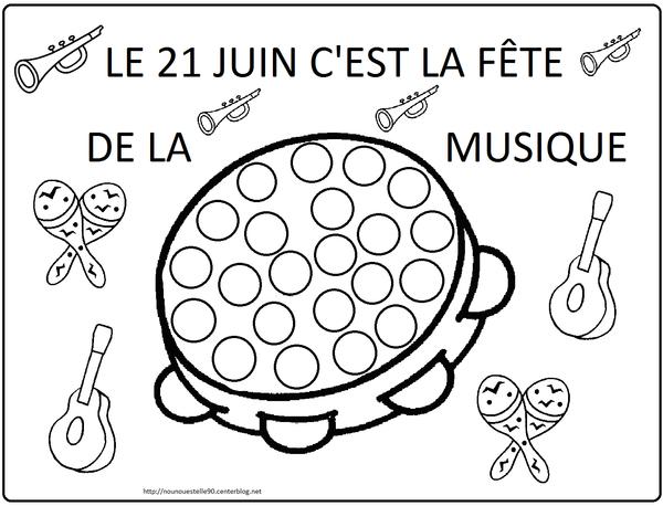 La f te de la musique - Image instrument de musique a colorier ...