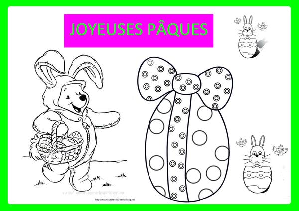 Coloriage Joyeuses Paques Maternelle.Coloriage Paques
