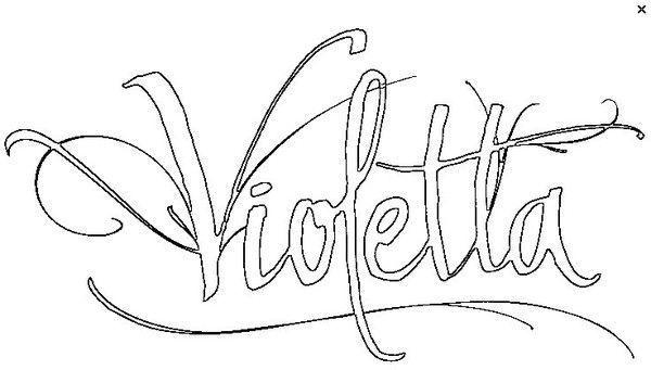 coloriage violetta - Coloriage Violetta