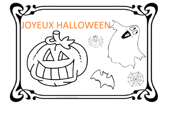 Dessin Joyeux Halloween.Coloriage Hallowen