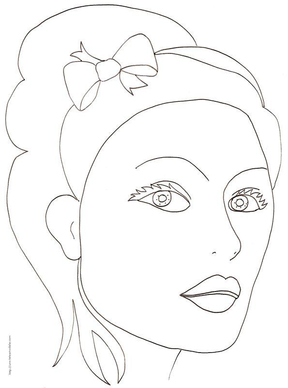 Coloriage top model page 2 - Coloriage top model visage ...