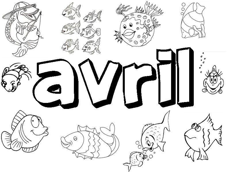 Coloriage poisson avril - Dessin de poisson a imprimer gratuit ...