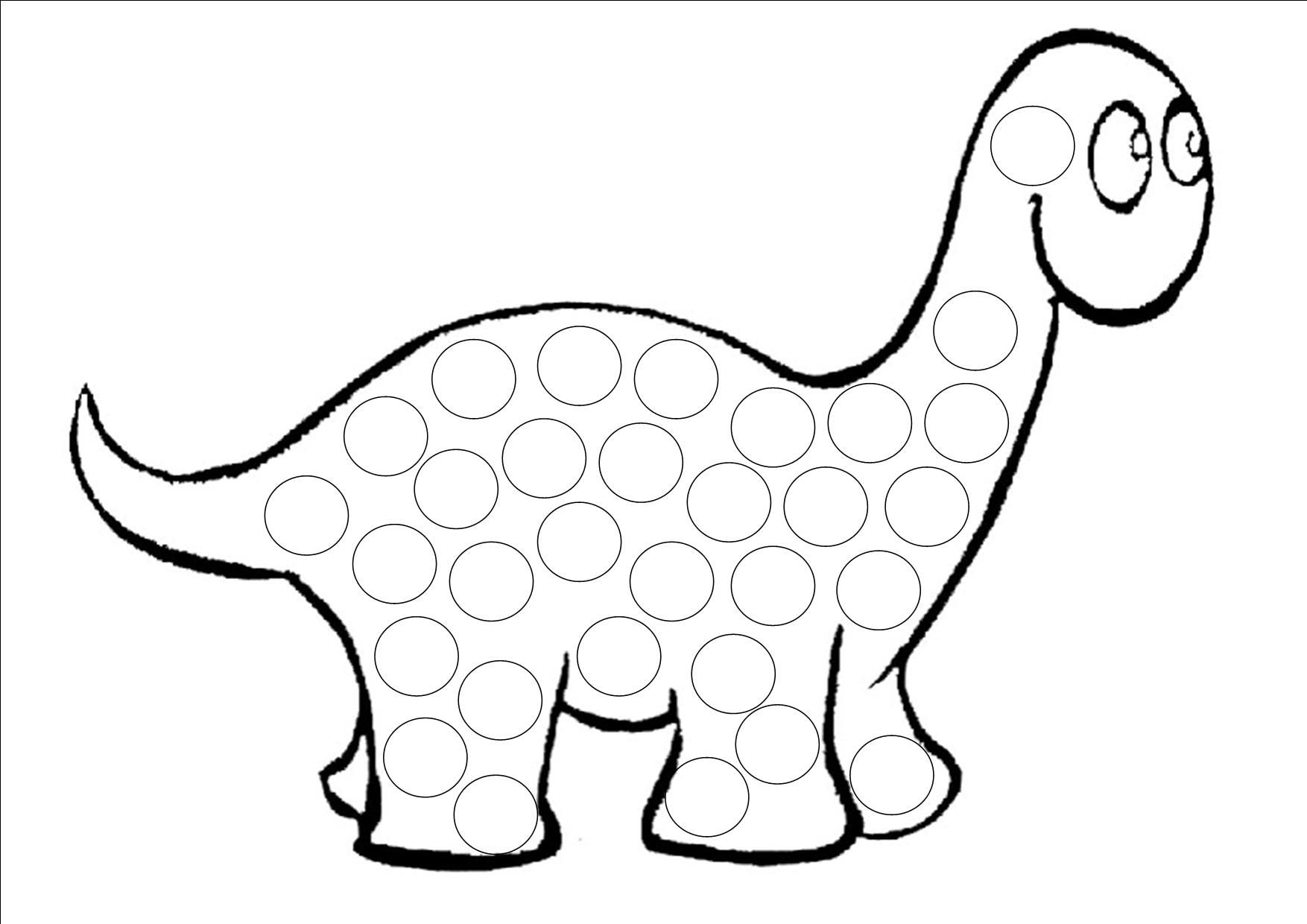 Activitees gommettes page 4 - Modele dessin dinosaure ...