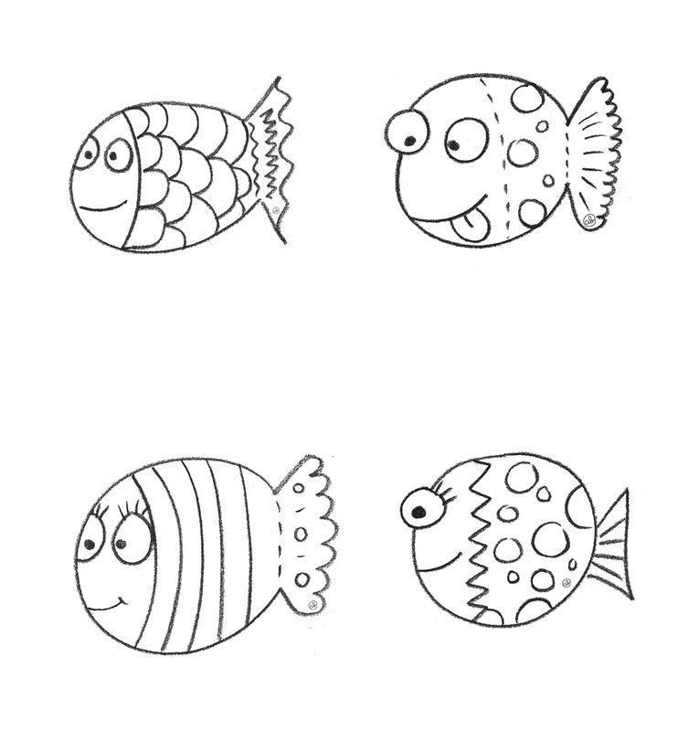 Coloriage poisson avril for Disegni da colorare pesciolini