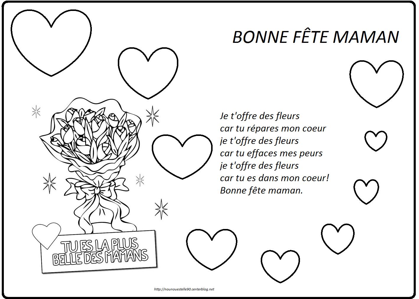 Poeme fete des meres - Dessin bonne fete maman ...