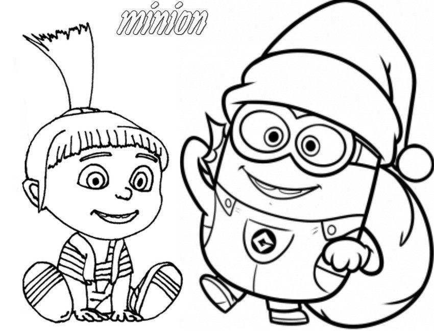 Coloriages les mignons - Minion a imprimer ...