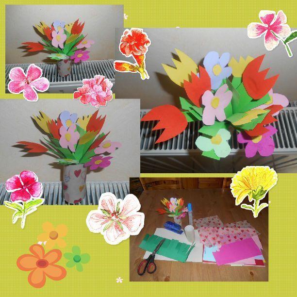vase bouquet rouleau papier toilette. Black Bedroom Furniture Sets. Home Design Ideas