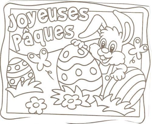 Coloriage paques - Dessin paques a imprimer gratuit ...