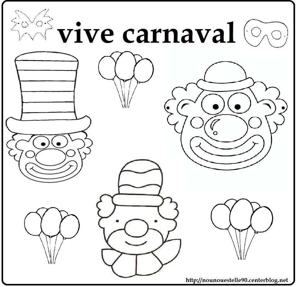 Coloriage De Carnaval.Coloriages Carnaval