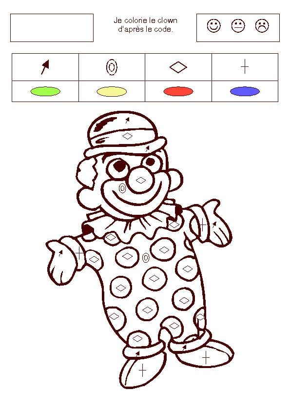 Coloriage Code Carnaval Maternelle.Coloriage Page 4