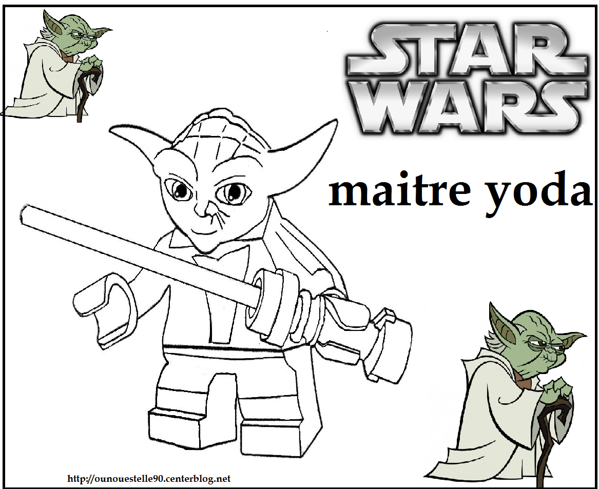 Coloriages star wars - Coloriage star wars yoda ...