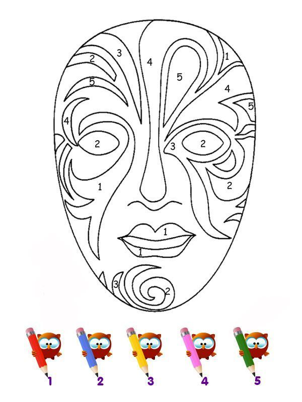 Coloriage Code Carnaval Maternelle.Coloriage