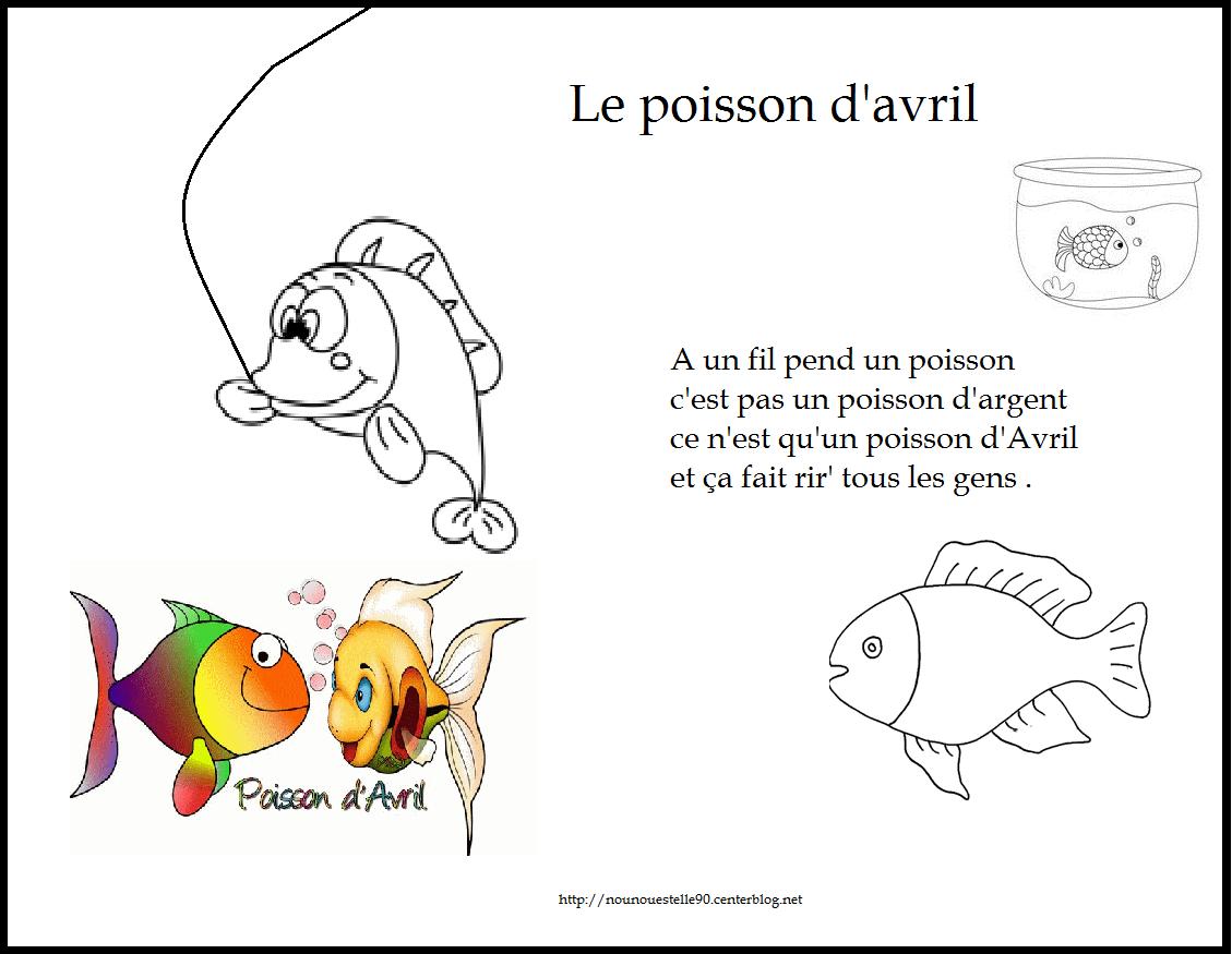 Comptines du 1 er avril - Poisson avril maternelle ...